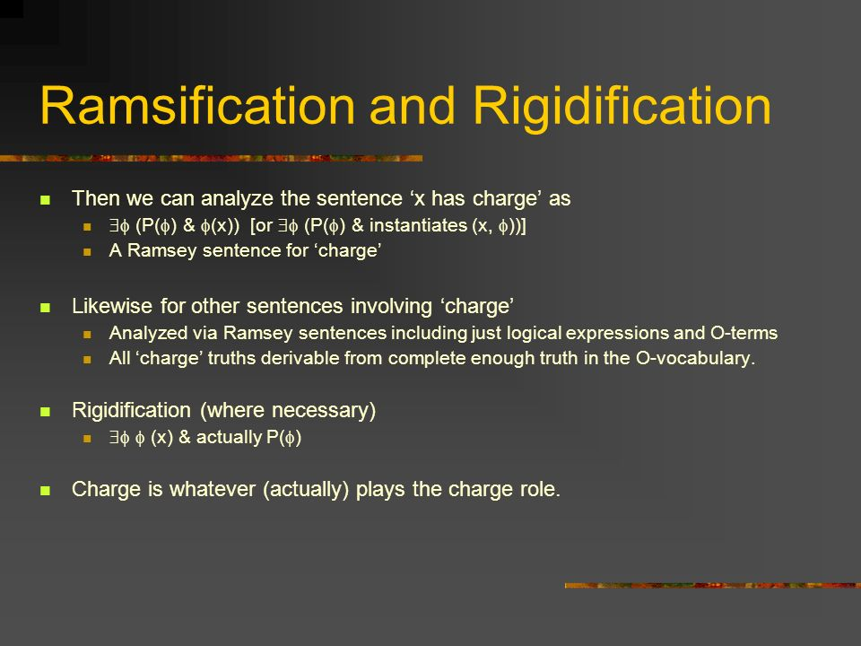 Ramsification and Rigidification