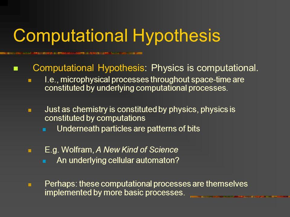 Computational Hypothesis