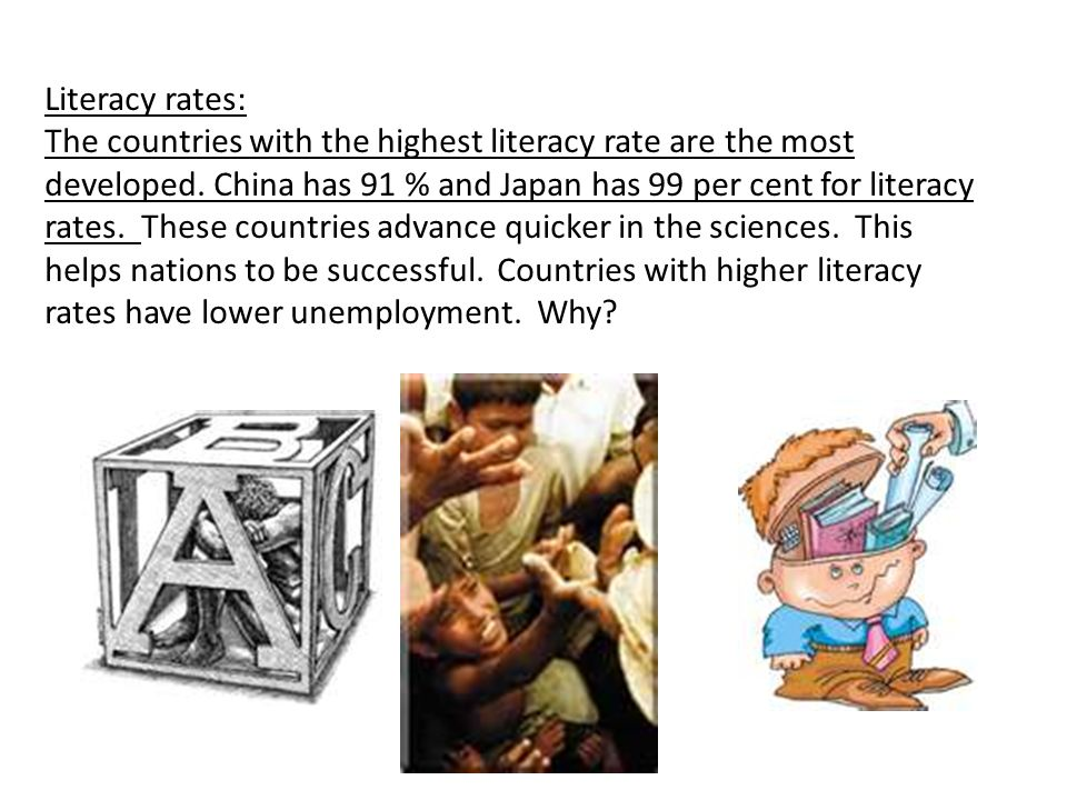 Literacy rates: