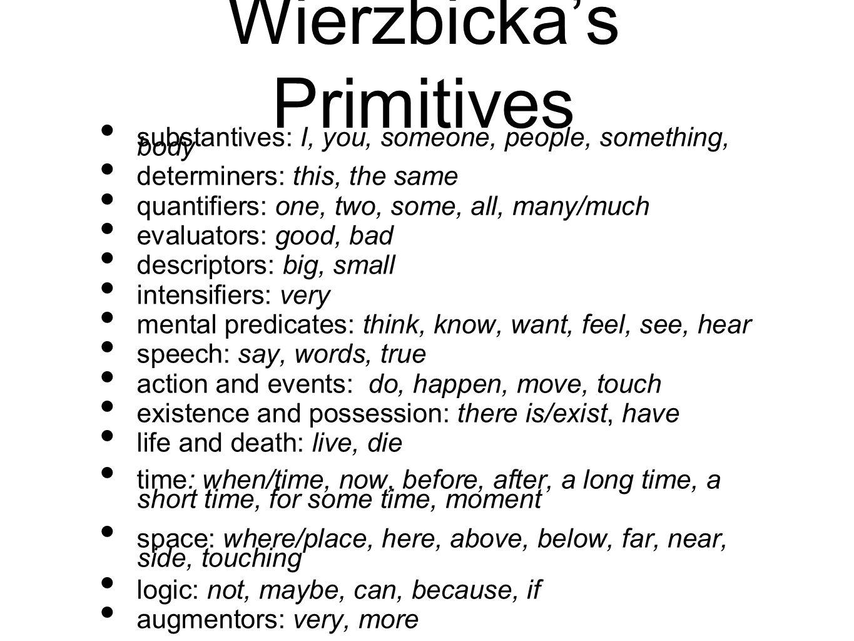 Wierzbicka's Primitives