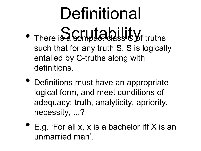 Definitional Scrutability