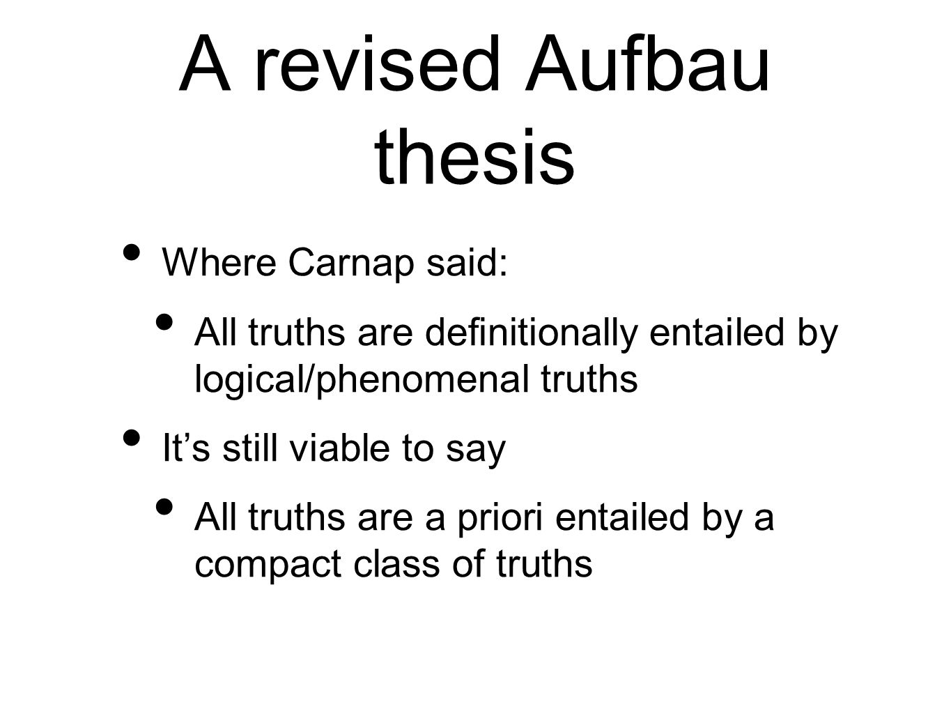 A revised Aufbau thesis