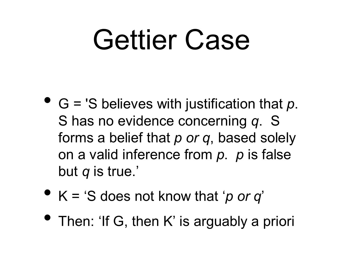 Gettier Case