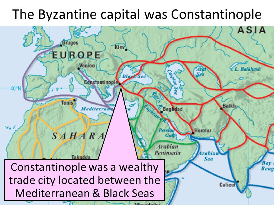 The Byzantine capital was Constantinople