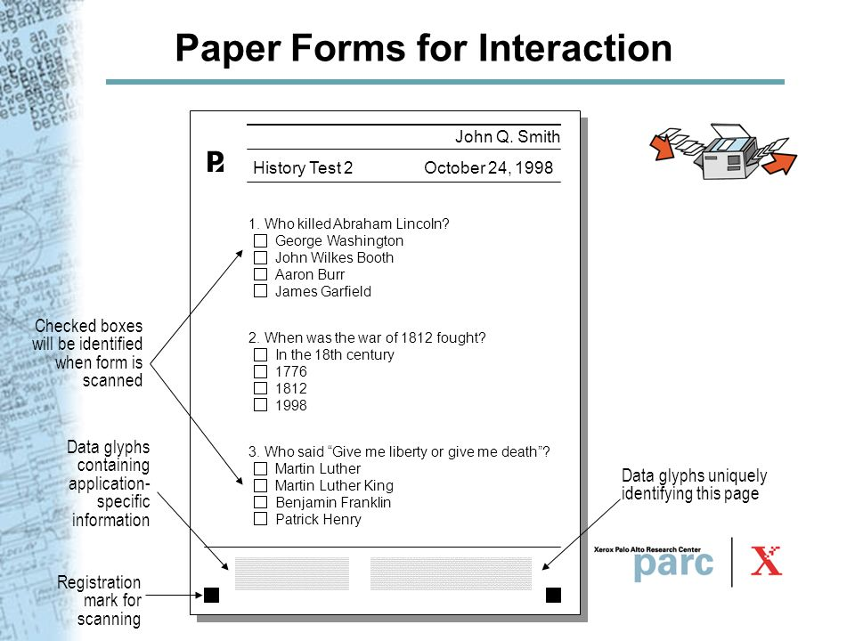 Paper Forms for Interaction