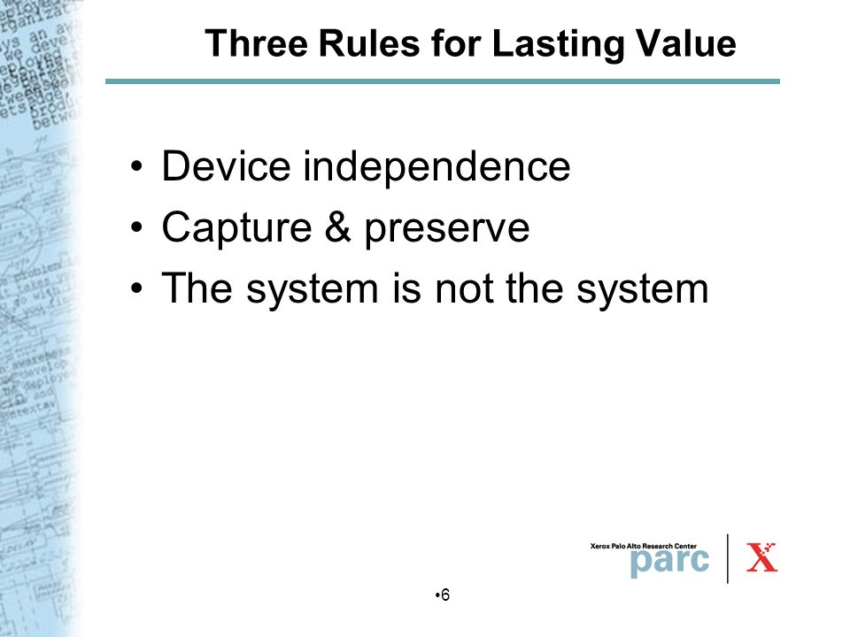 Three Rules for Lasting Value