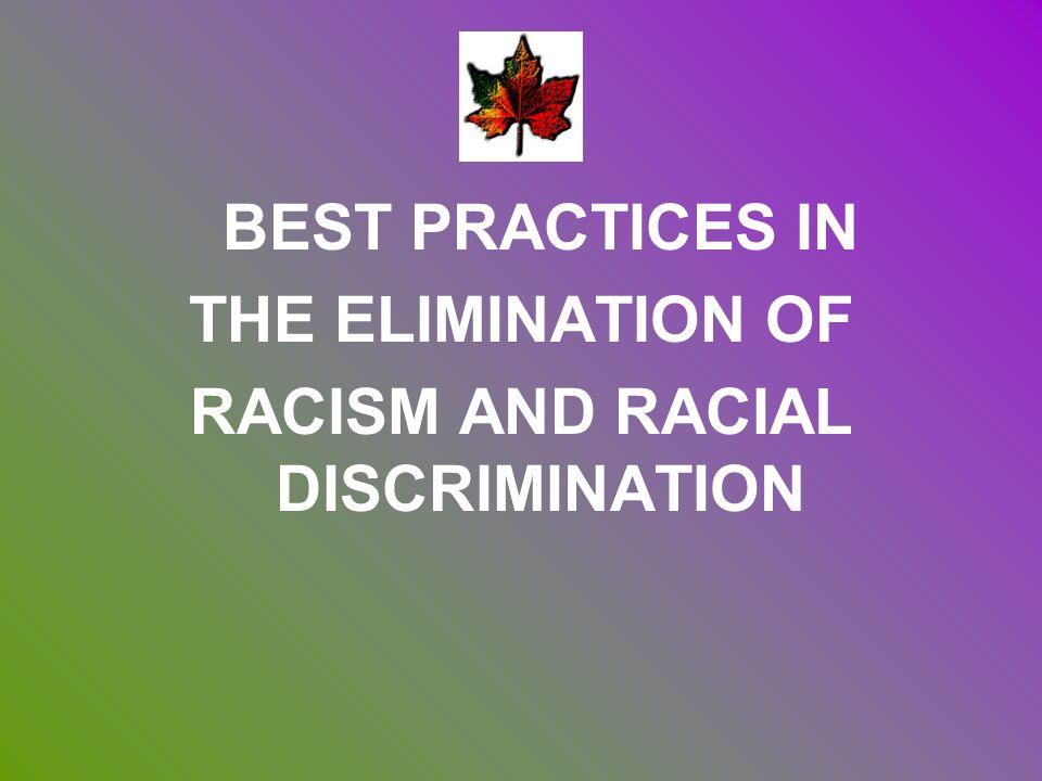 RACISM AND RACIAL DISCRIMINATION