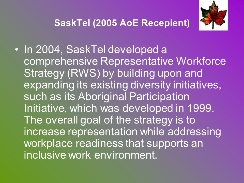 SaskTel (2005 AoE Recepient)