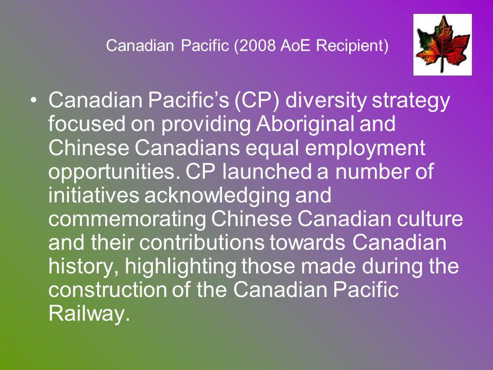 Canadian Pacific (2008 AoE Recipient)