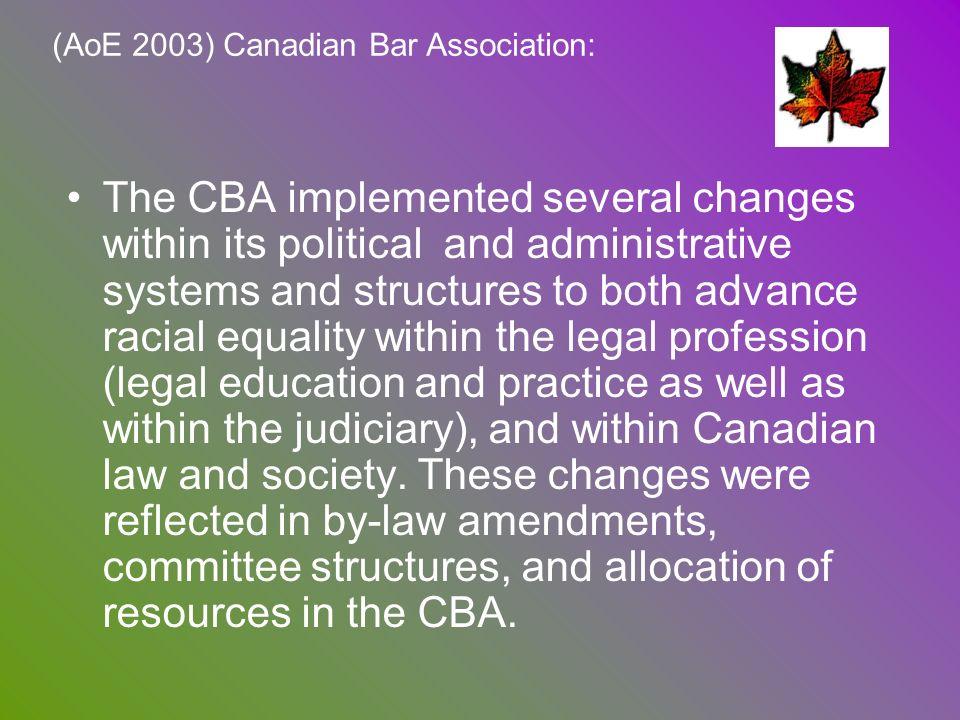 (AoE 2003) Canadian Bar Association: