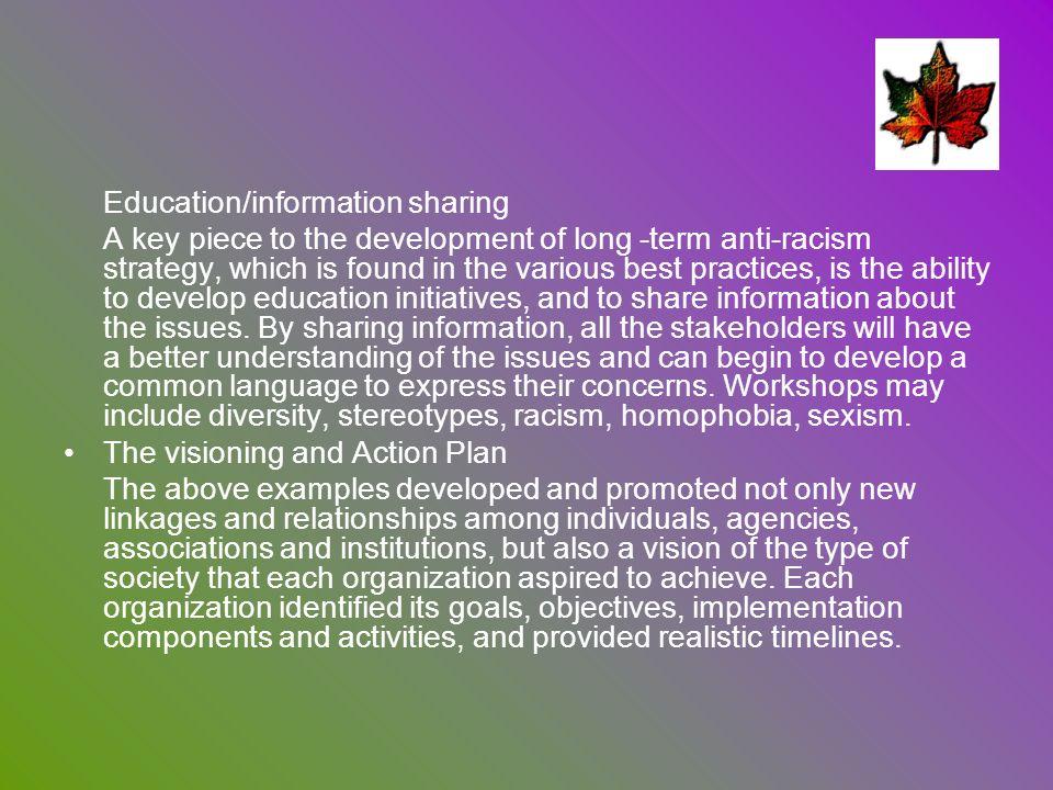 Education/information sharing