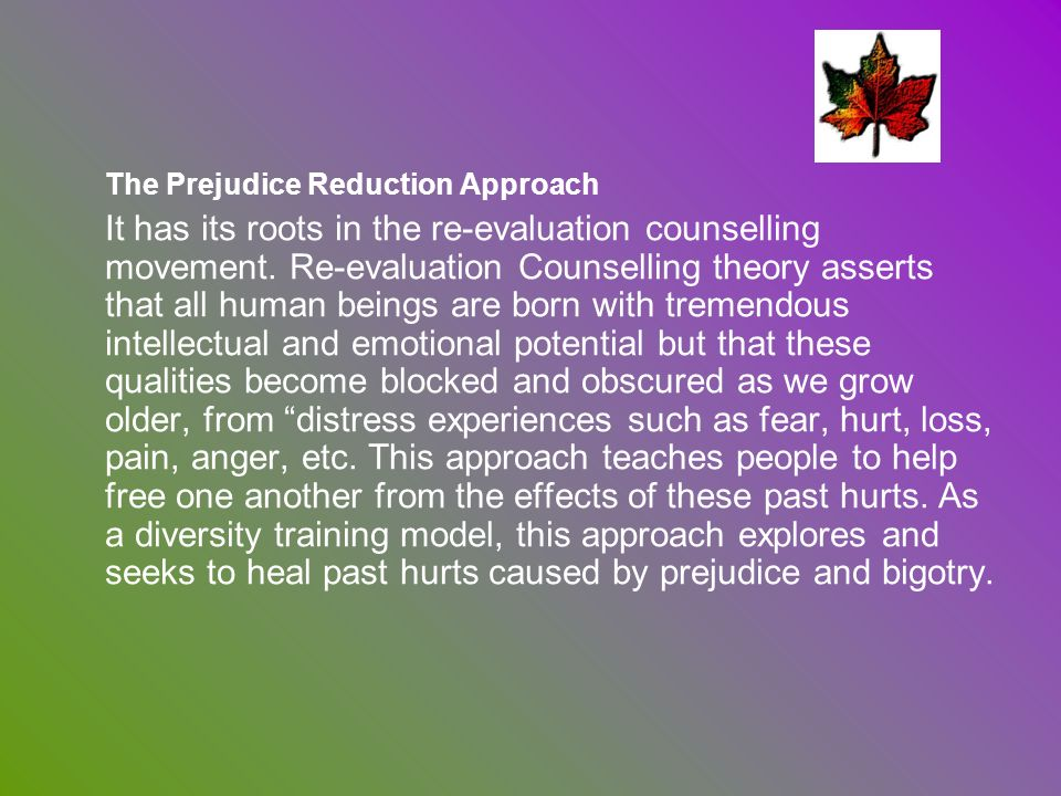 The Prejudice Reduction Approach