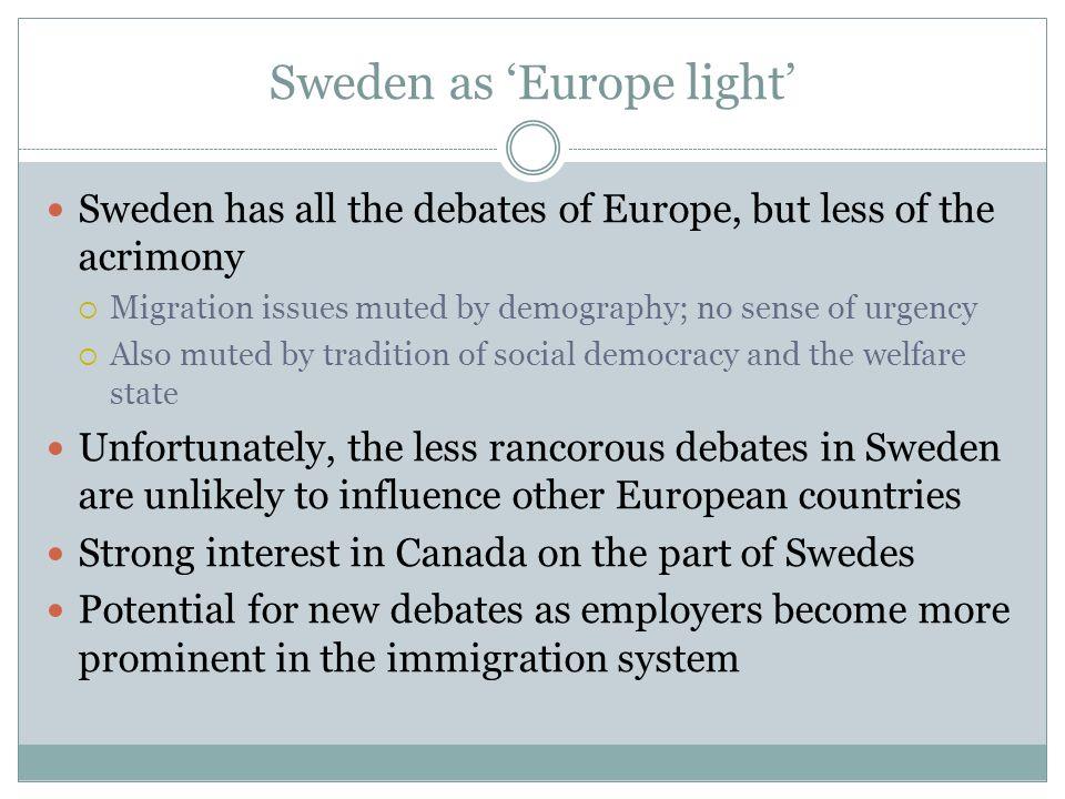 Sweden as 'Europe light'