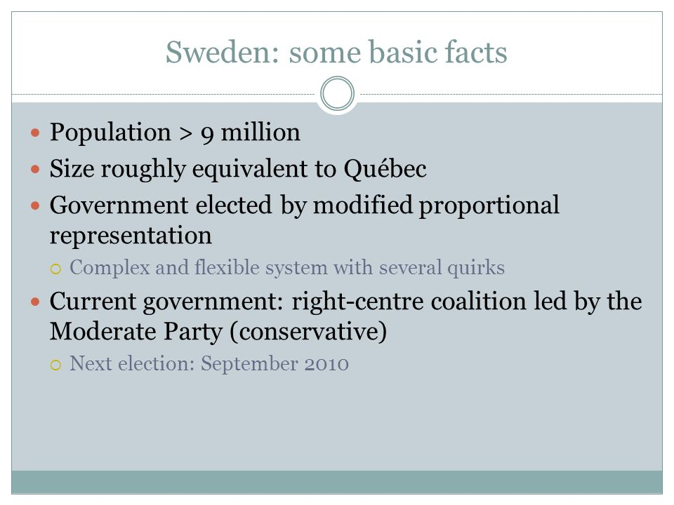 Sweden: some basic facts