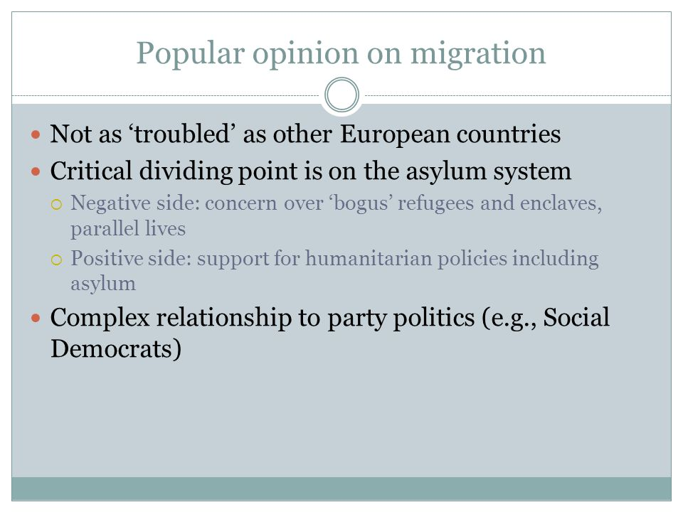 Popular opinion on migration