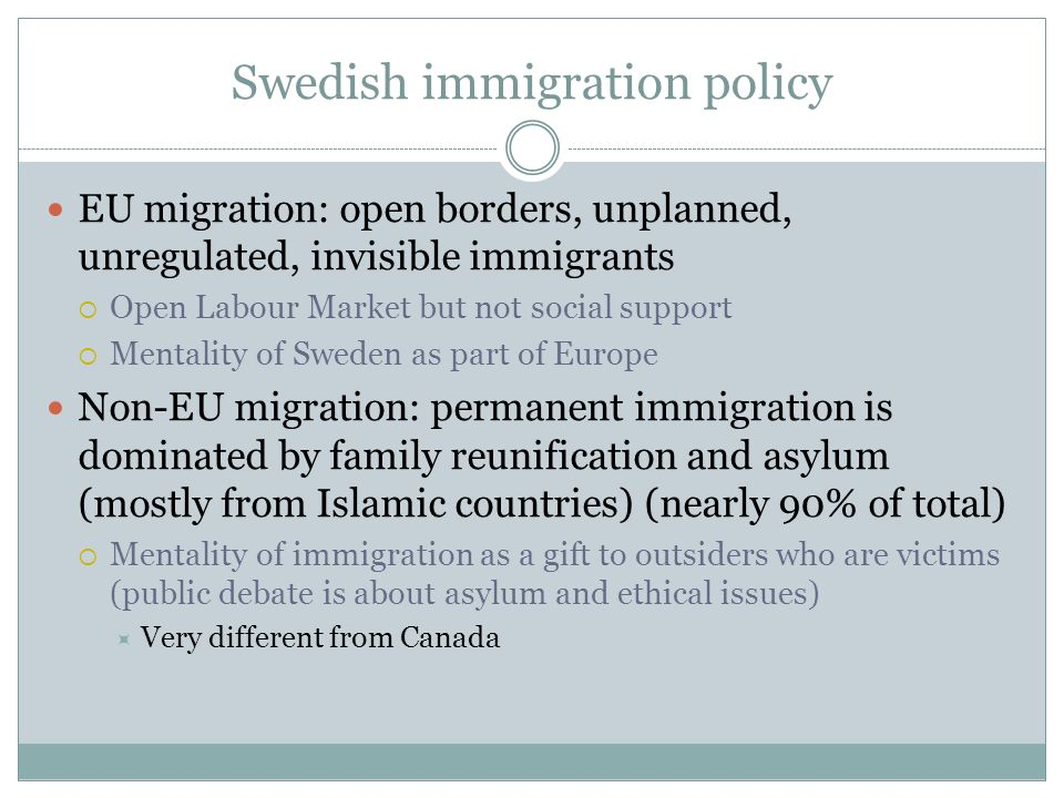 Swedish immigration policy