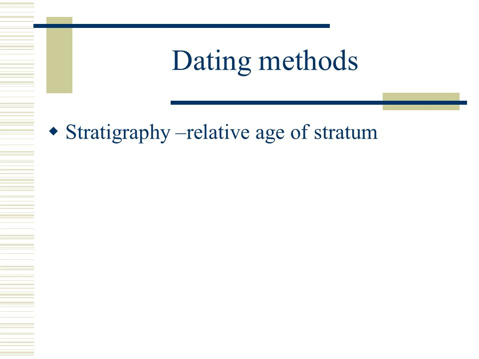 Organic dating methods