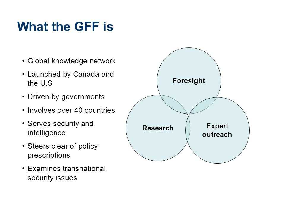 What the GFF is Global knowledge network
