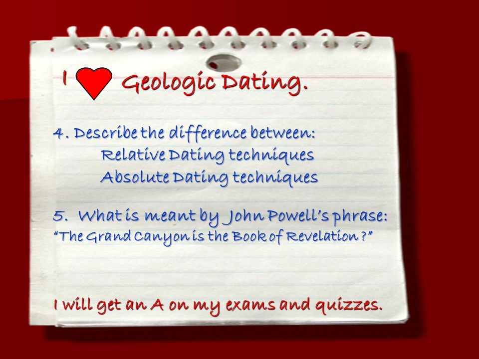 what is the major difference between relative dating and numerical dating techniques