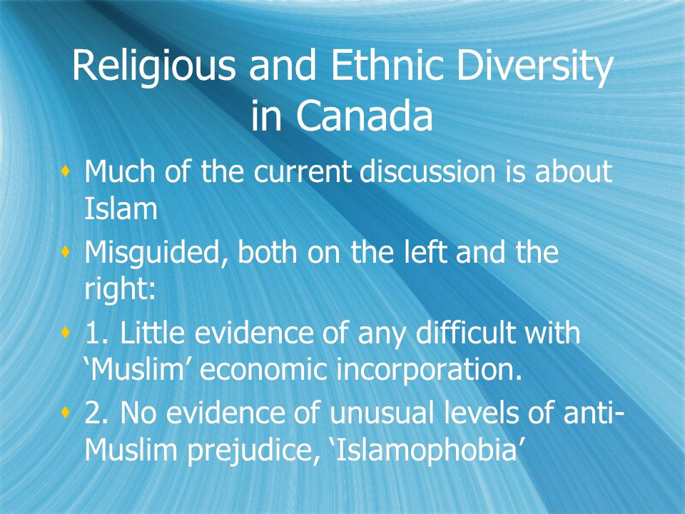 Religious and Ethnic Diversity in Canada