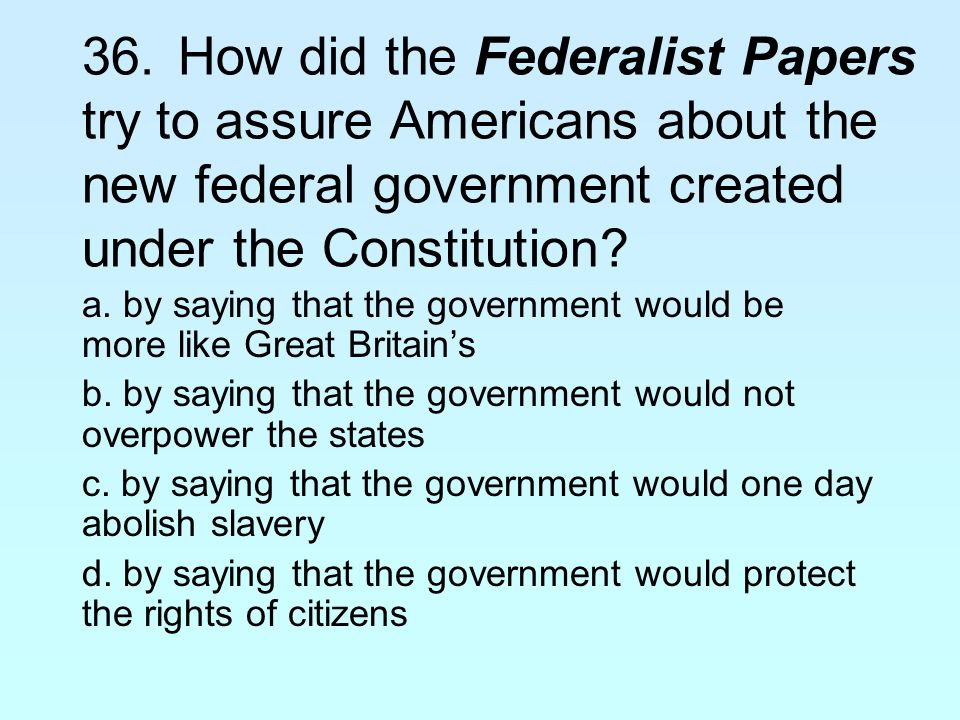 Why Was the Constitution Created?