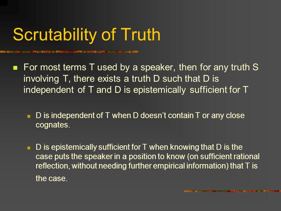 Scrutability of Truth