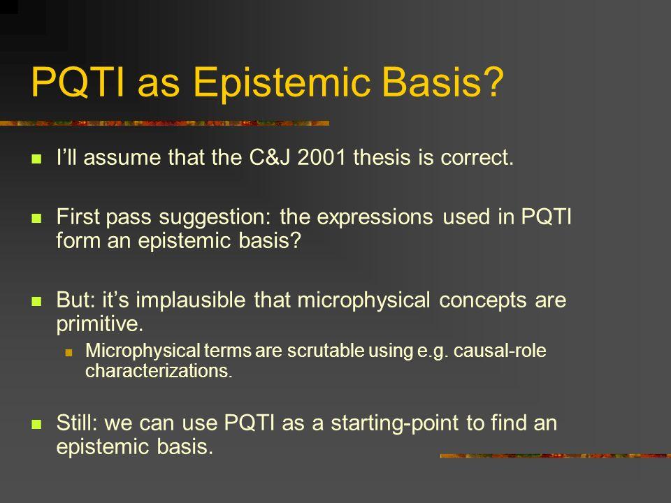 PQTI as Epistemic Basis