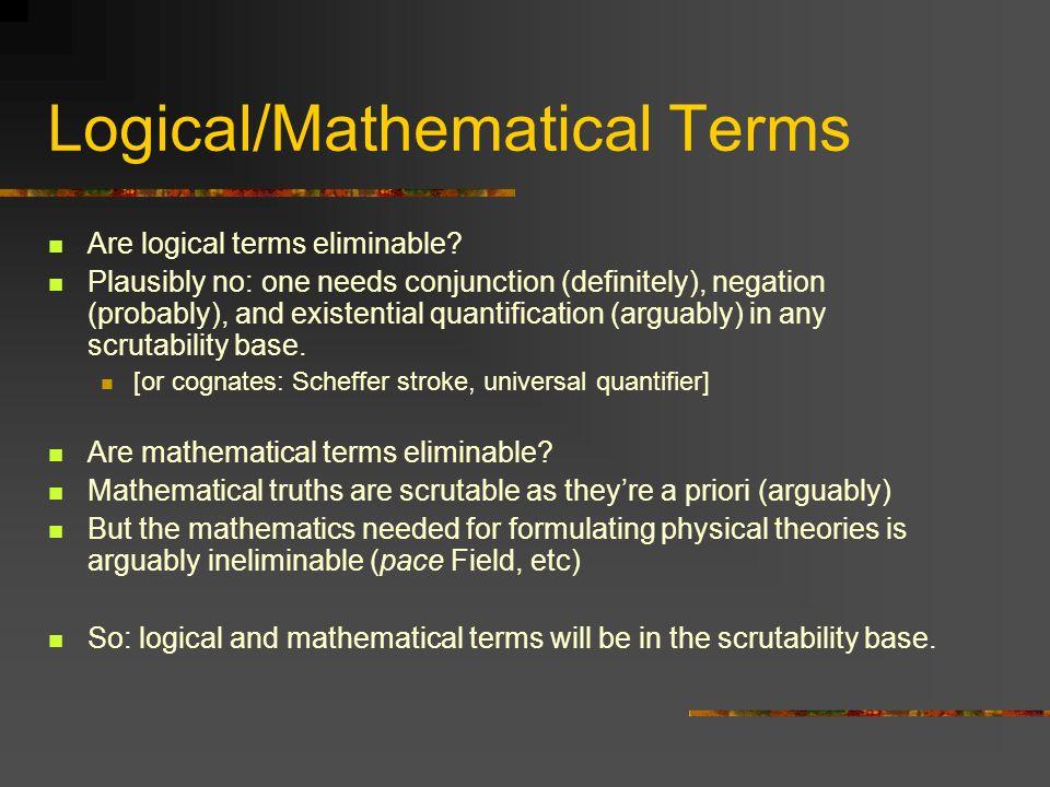 Logical/Mathematical Terms