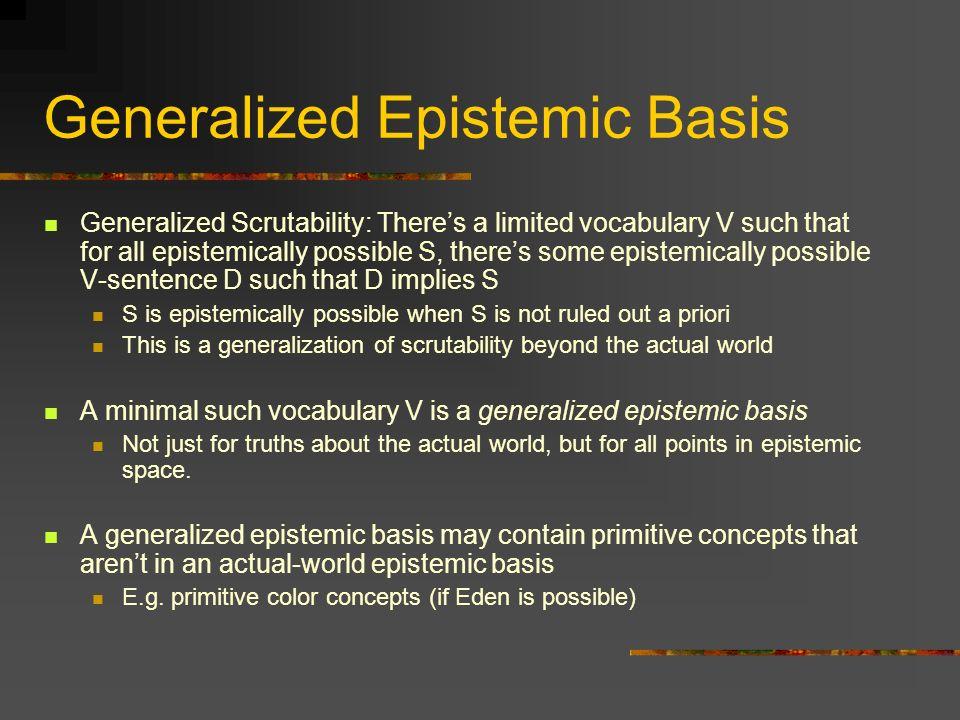 Generalized Epistemic Basis