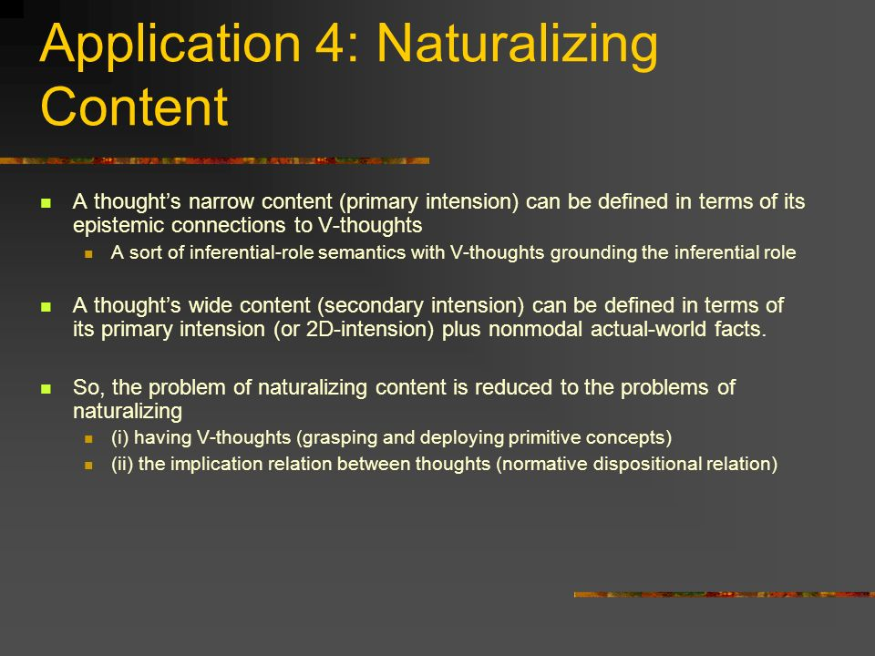 Application 4: Naturalizing Content