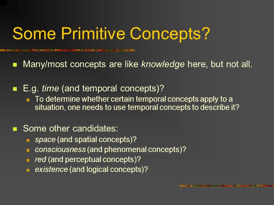 Some Primitive Concepts
