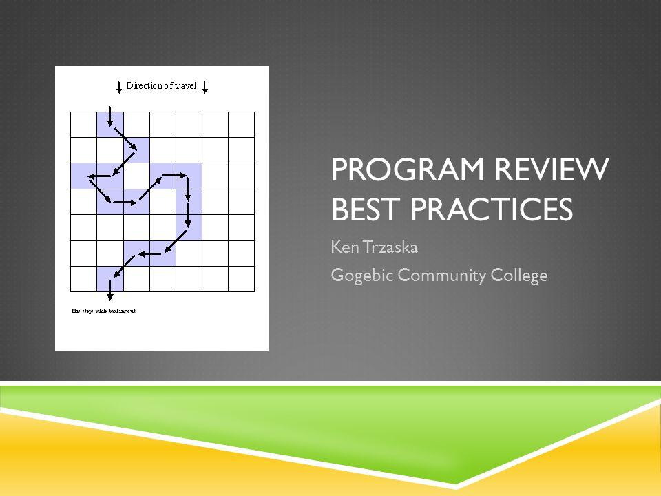 Program Review Best Practices