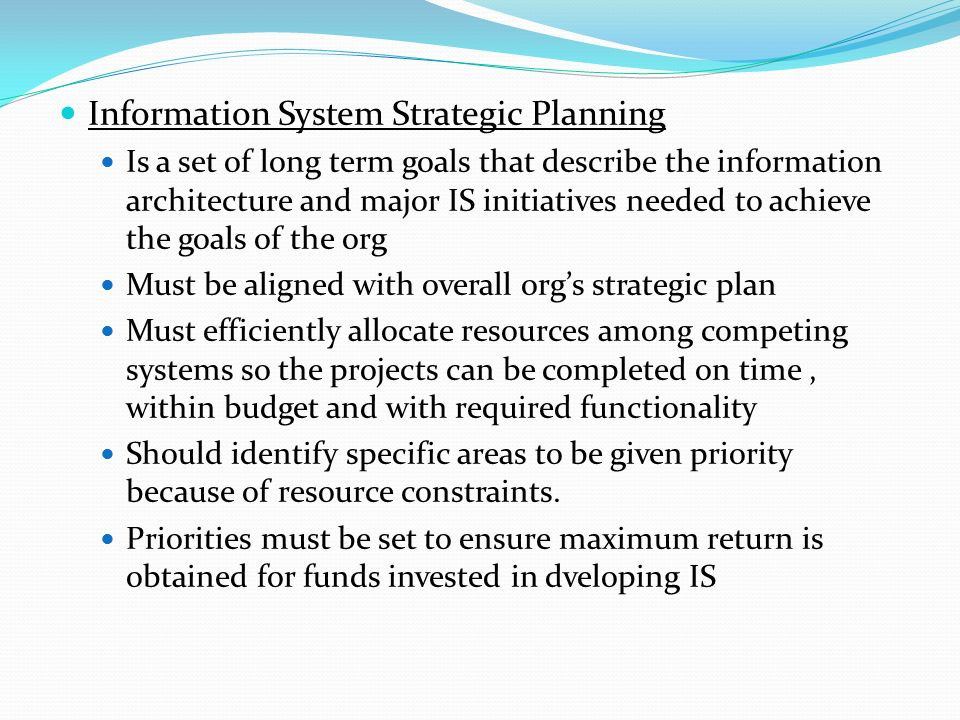 Strategic information systems planning at cfcu