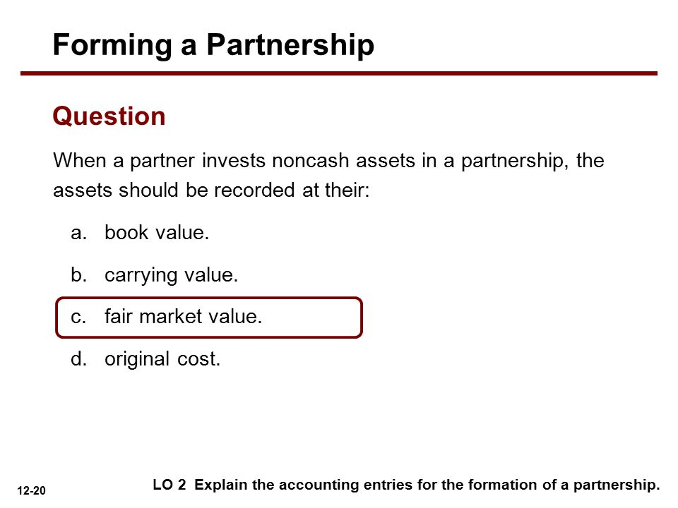 Forming a Partnership Question