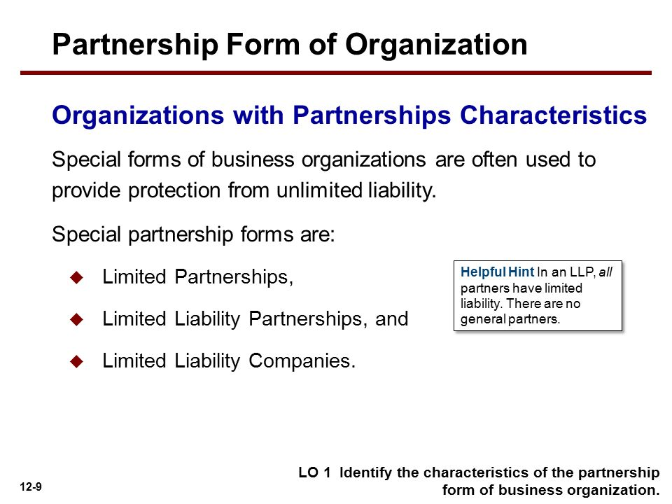 Partnership Form of Organization