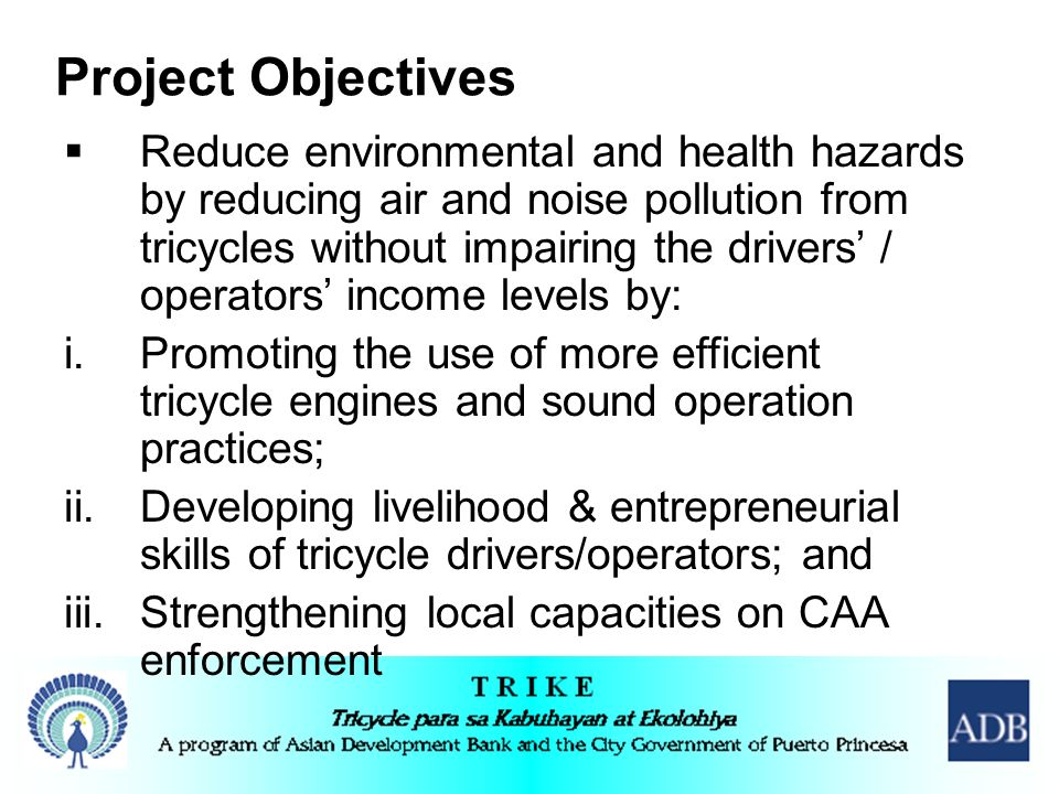 Air and Noise Pollution Reduction Strategies for Tricycle ...