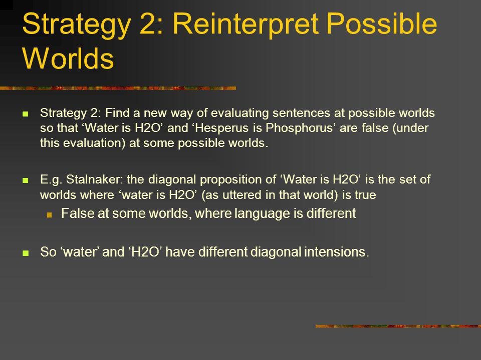 Strategy 2: Reinterpret Possible Worlds