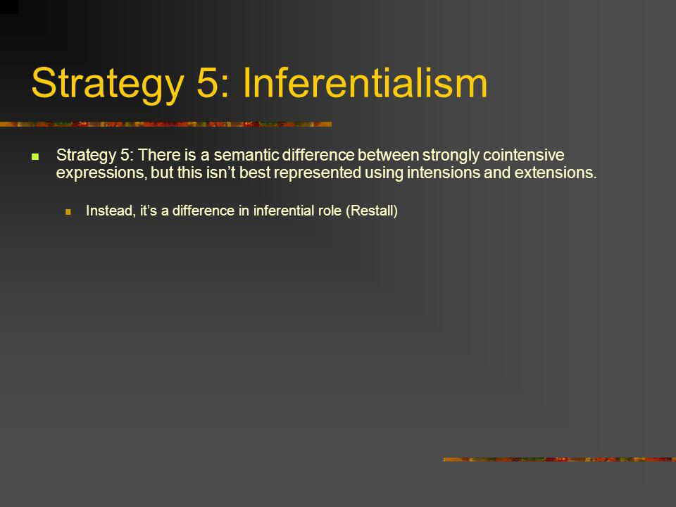 Strategy 5: Inferentialism