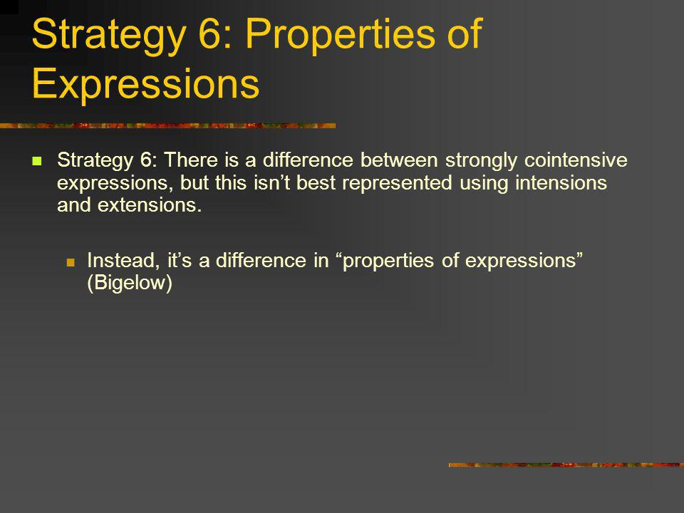 Strategy 6: Properties of Expressions