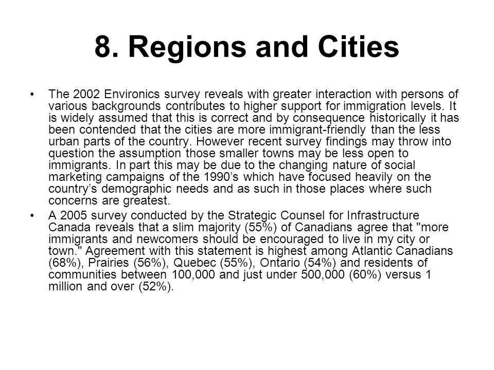 8. Regions and Cities