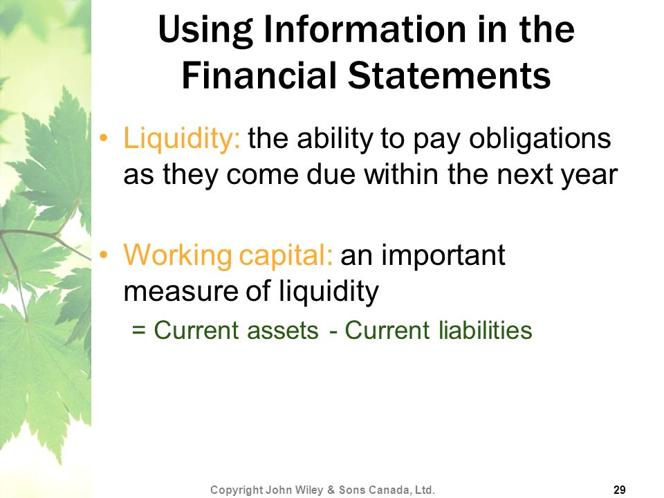 Using Information in the Financial Statements