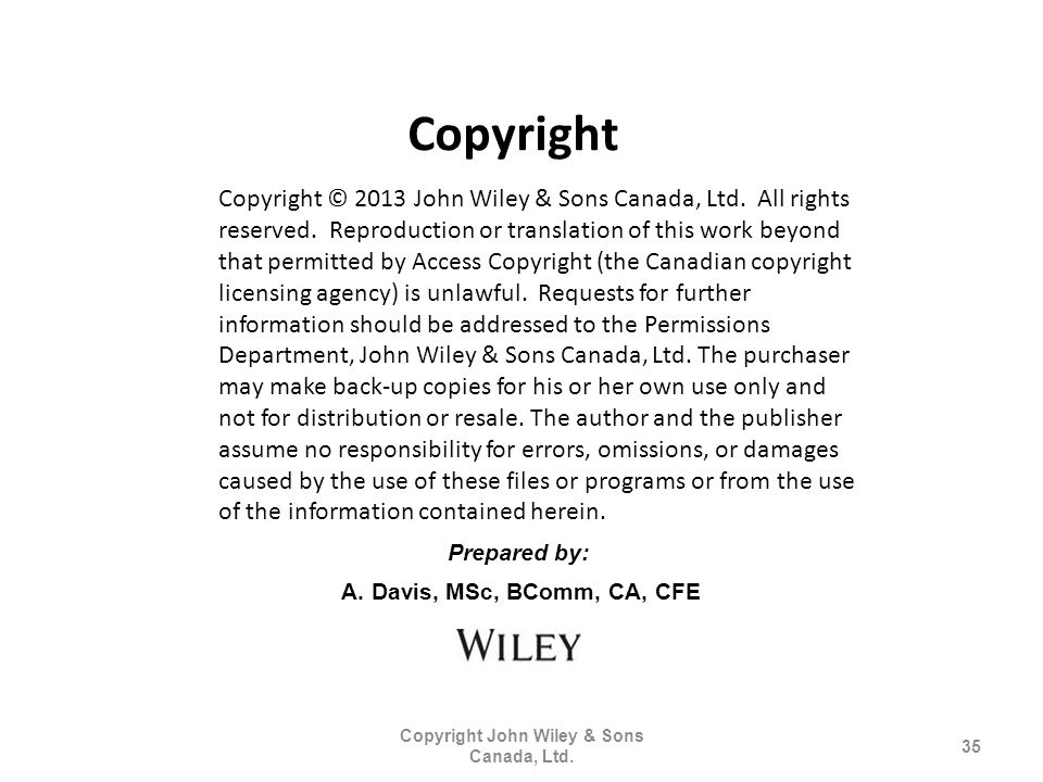 Copyright John Wiley & Sons Canada, Ltd.