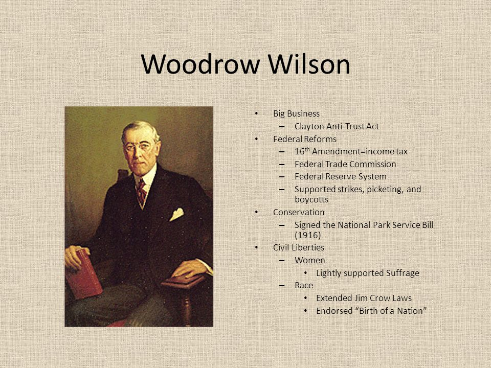 unconstitutional acts of woodrow wilson The decisive and benevolent--if possibly unconstitutional--actions that  but he  was furious when it was first proposed during woodrow wilson's administration.