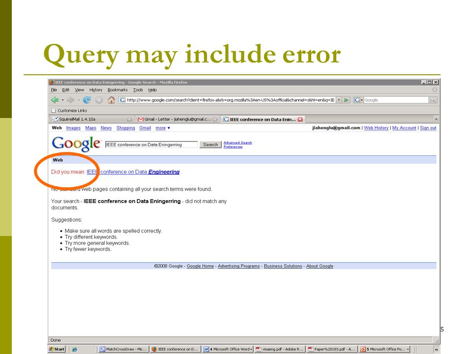 Query may include error