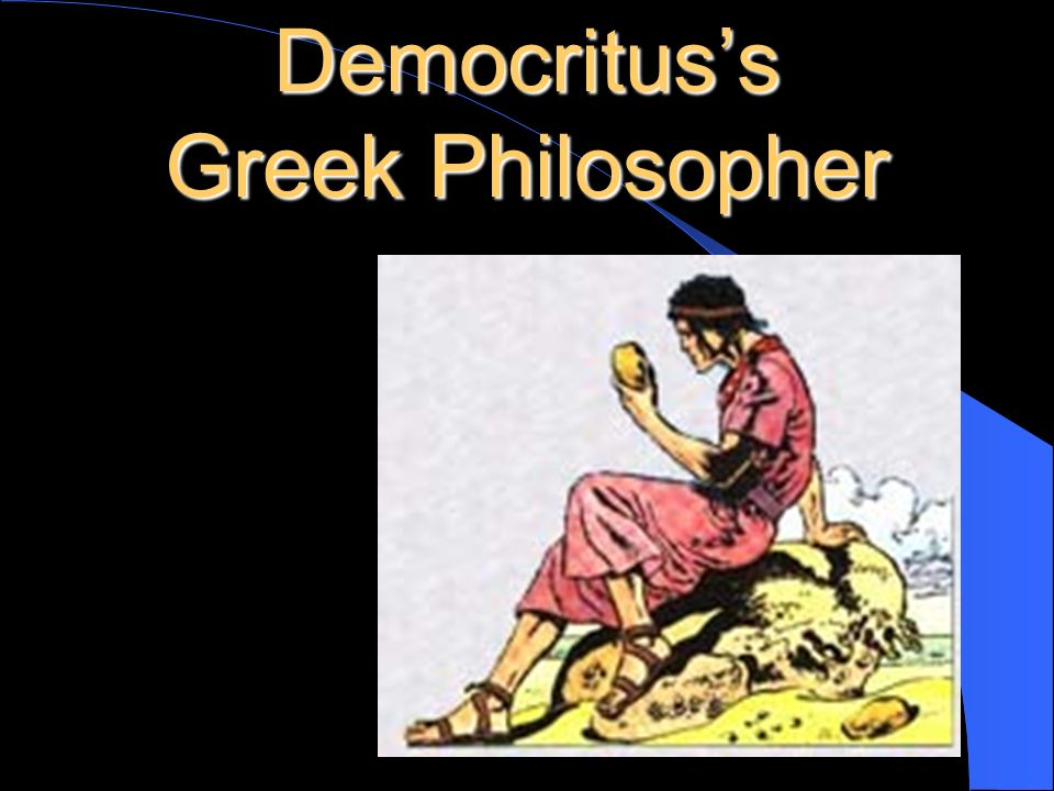 Democritus's Greek Philosopher