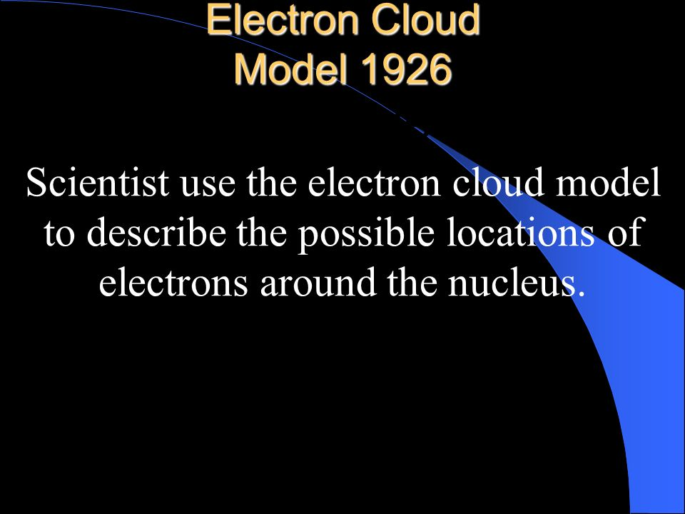 nucleus Electron Cloud Model 1926