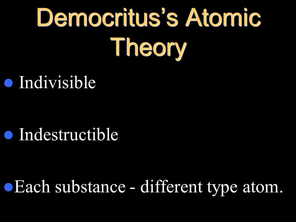Democritus's Atomic Theory
