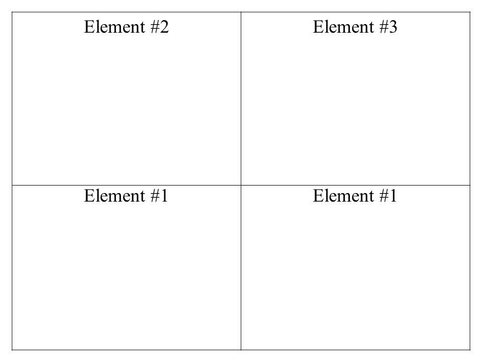 Element #2 Element #3 Element #1