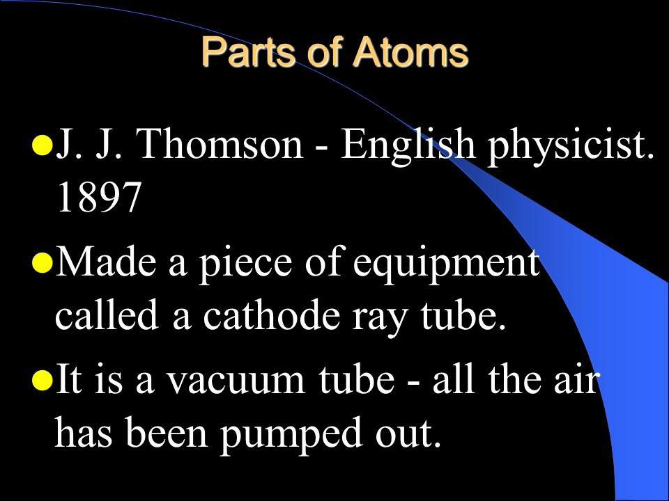J. J. Thomson - English physicist. 1897