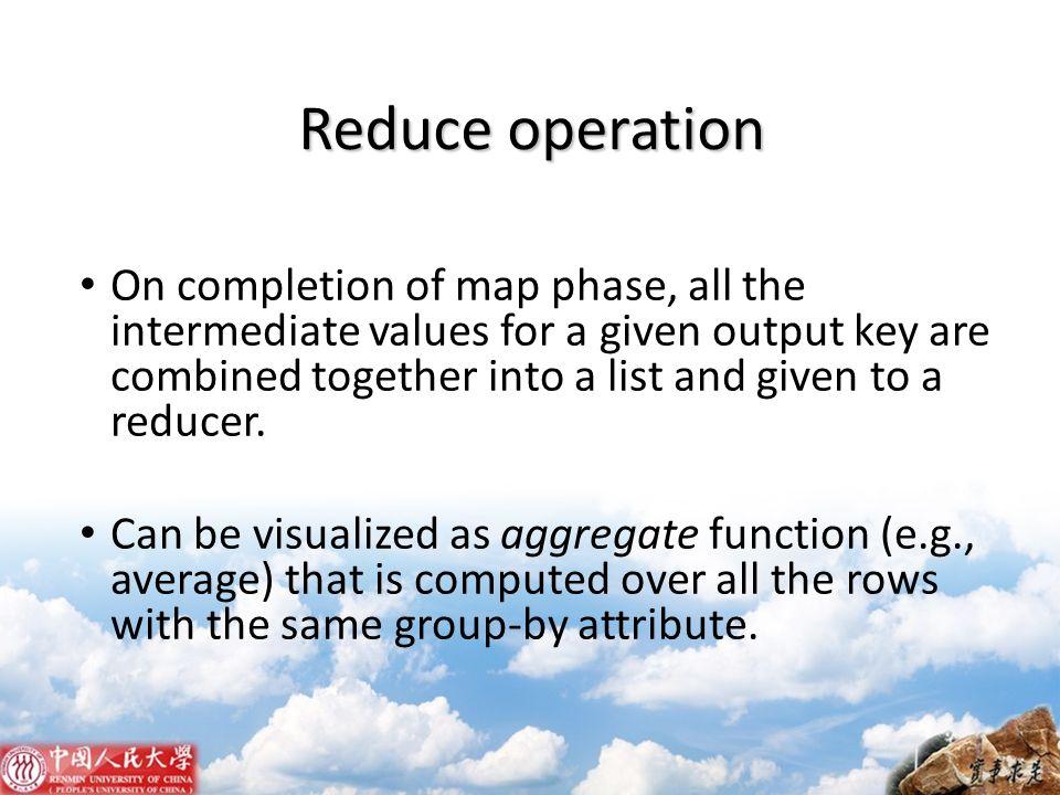 Reduce operation